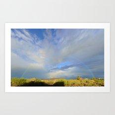 Oct 6, 2015 Rainbow over the Cave Creek Recreational Center Art Print