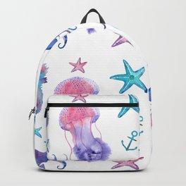 Watercolor Sea Life Backpack