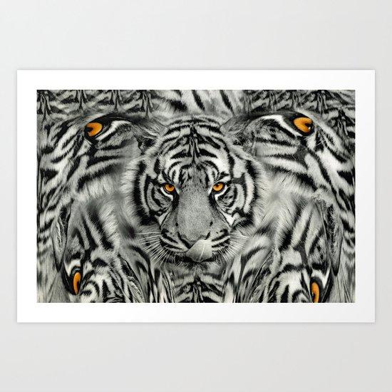 TIGER PAW-TRAIT Art Print