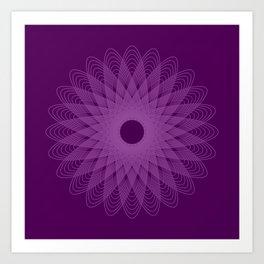 The Beauty of Geometry, Purple Art Print