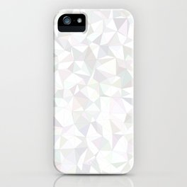 White triangle mosaic iPhone Case