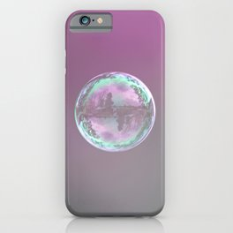 soap bubbles flying in the air iPhone Case