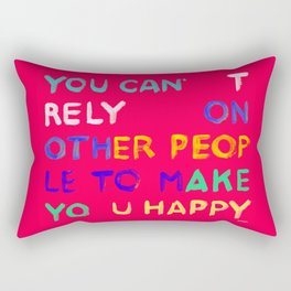 RELY / ABSOLUTELY HAPPY VERSION Rectangular Pillow