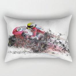 High Speed Motorcycle Racer Rectangular Pillow