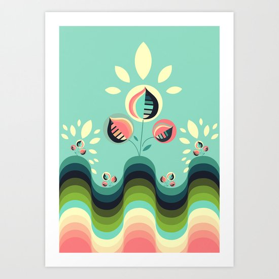 Happy Garden Art Print