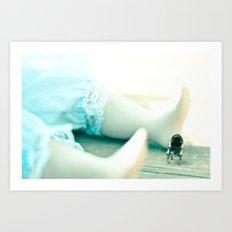 Alice's Escapades ~ Alice & The Chair Art Print