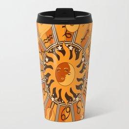 Harley and J Zodiac Orange Travel Mug