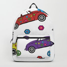 Colorful hippie bug pattern Backpack