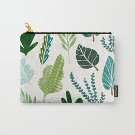 Forest Leaf Collage Carry-All Pouch