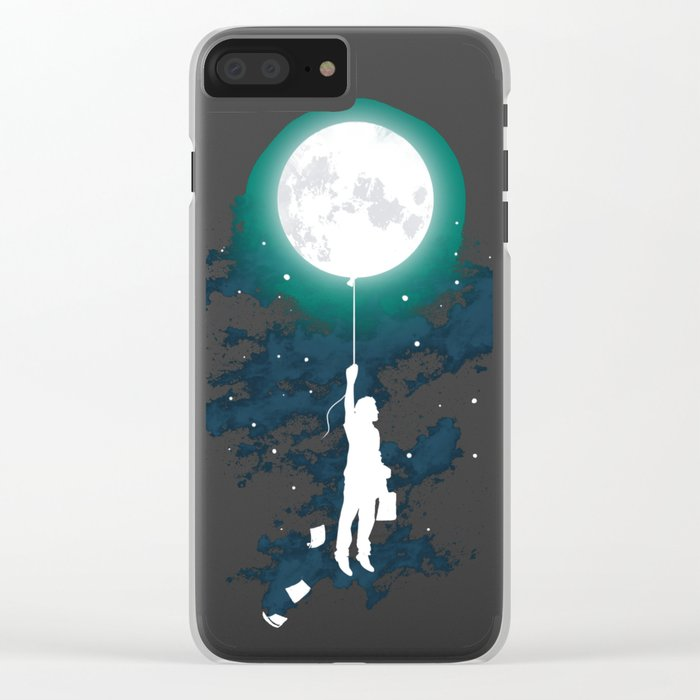 Burn the midnight oil Clear iPhone Case