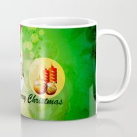 merry christmas Mugs featuring Merry christmas by nicky2342