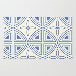 Modern Flower Pattern Art Rug
