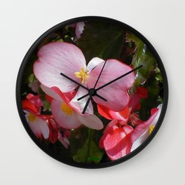 Begonia in the Rose Garden Wall Clock