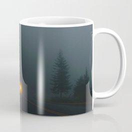 Headlight On A Misty Mountain Road Coffee Mug
