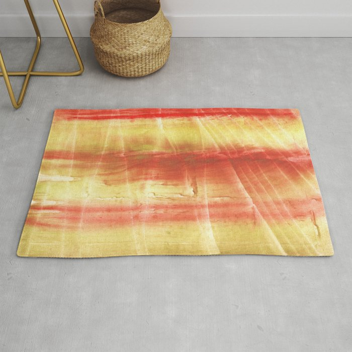 Red yellow Rug by genrus | Society6