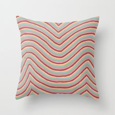 Colory Lines Throw Pillow