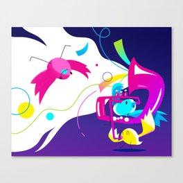 Birds a chripin' Canvas Print