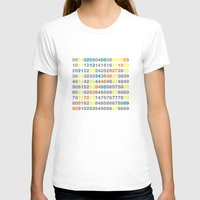 numbers T-shirts featuring Numbers by Andrew Reid