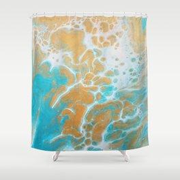Ocean Marble Shower Curtain