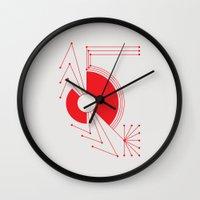 spider Wall Clocks featuring Spider by Hinterlund