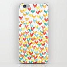 Falling Hearts iPhone & iPod Skin