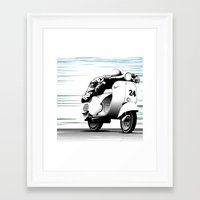 racing Framed Art Prints featuring Racing by Don Paris Schlotman