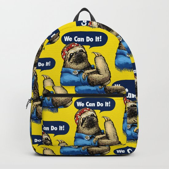 We Can Do It Sloth Backpack