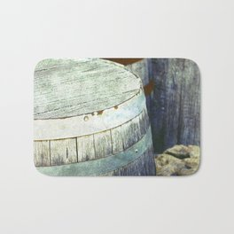 Wooden Barrels and Crates Bath Mat