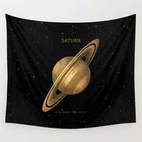 saturn Wall Tapestries featuring Saturn by Terry Fan