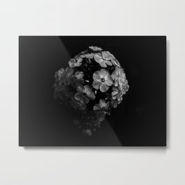 Planet of Flowers (Black and White) Metal Print