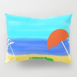 Metaphysical Penguin Beach Day Pillow Sham