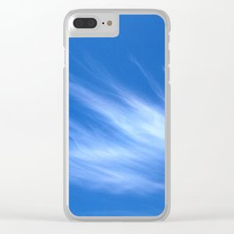 Ivory Strands of Clouds in Bright Blue Sky Clear iPhone Case