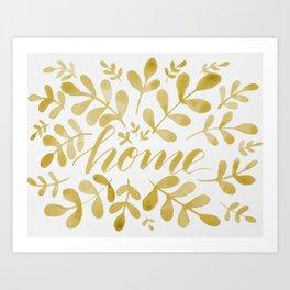 Watercolor home foliage – yellow Art Print