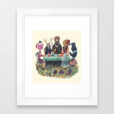 The Art of ruining conversation at dinner parties Framed Art Print