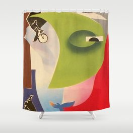 Chasoffart-In the name of life Shower Curtain
