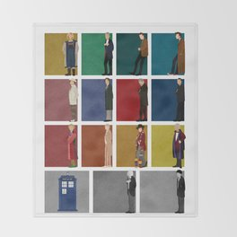 Doctor Who 2 Throw Blanket