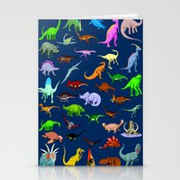 dinosaurs Stationery Cards featuring Dinosaurs by Raffaella315