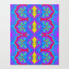 Purple Flame Flower Pattern Canvas Print