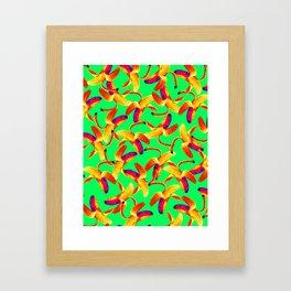 Banana Pop Art Framed Art Print
