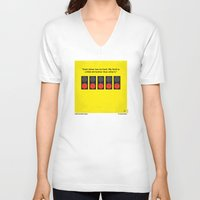senna V-neck T-shirts featuring No075 My senna minimal movie poster by Chungkong