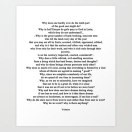 Quotation from Voltaire - life Art Print