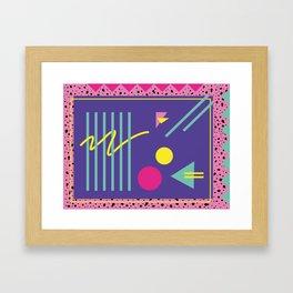 Memphis pattern 43 - 80s / 90s Retro Framed Art Print