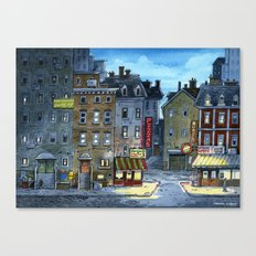 Night at Little Italy Canvas Print