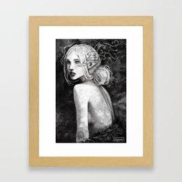 Lavellan black and white Framed Art Print