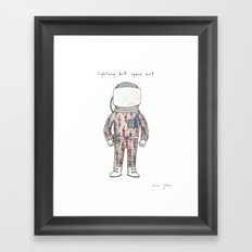 lightning bolt space suit Framed Art Print