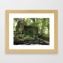 House in Woods Framed Art Print