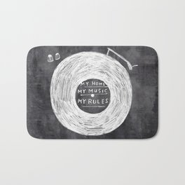 my home, my music, my rules Bath Mat
