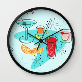 Cabo Cocktails Wall Clock