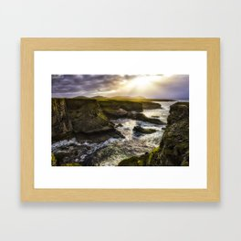 Light on the Cliffs Framed Art Print