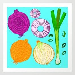 Onions Make You Cry by Keyton Design Art Print